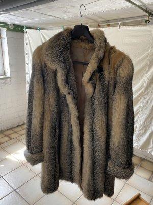 Boecker Abrigo de piel marrón claro