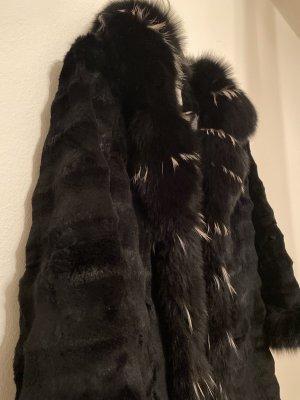 Alexander Futrzany płaszcz czarny