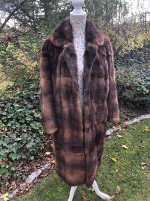 Manteau de fourrure cognac-brun