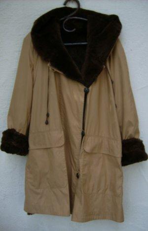 Manteau de fourrure chameau tissu mixte
