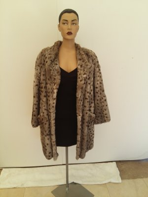 Fur Jacket silver-colored