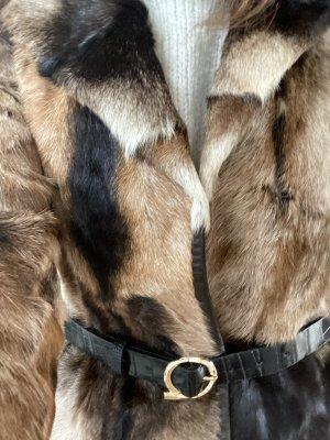 unbekannte Veste en fourrure brun-beige
