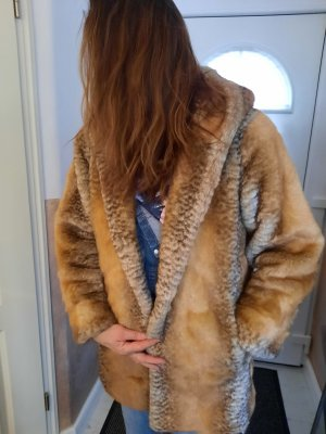 Dennis Basso Fake Fur Jacket light brown-natural white