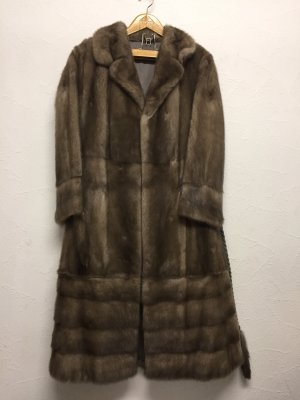 Futrzany płaszcz Wielokolorowy