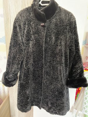 100% Fashion Pelt Coat black