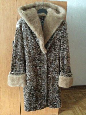 Manteau de fourrure multicolore tissu mixte