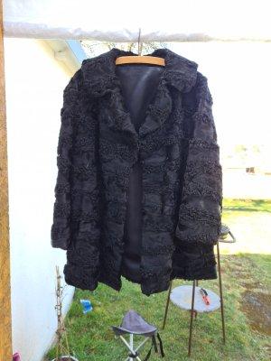 Unbekannte Marke Pelt Coat black