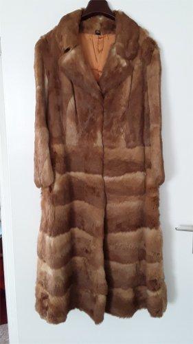 Futrzany płaszcz cognac Futro