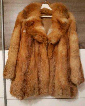 Veste de fourrure marron clair-chameau