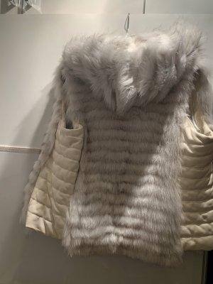 Pelzmantel Weste echt Pelz mit Goldener Reißverschluss