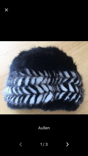 Fur Hat black-white pelt