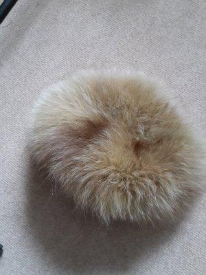 Futrzana czapka beżowy Futro