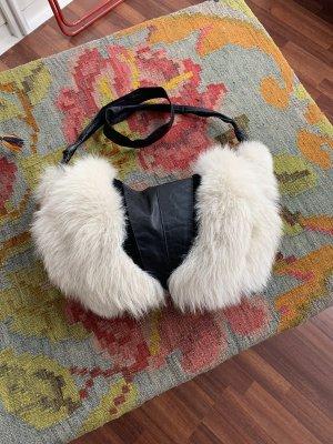 Pelzmuff Tasche Polarfuchs