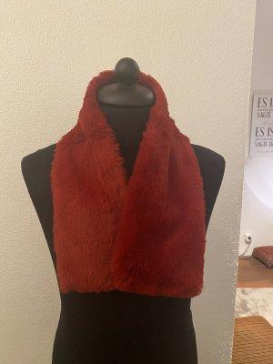 Basic Écharpe ronde rouge foncé fourrure