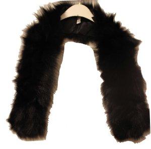 LUXURY Étole noir fourrure