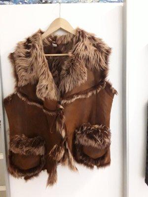 Unbekannte Marke Veste de fourrure brun