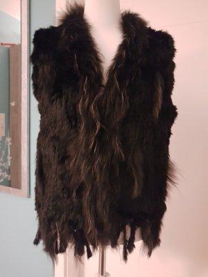 Ohne Smanicato di pelliccia nero