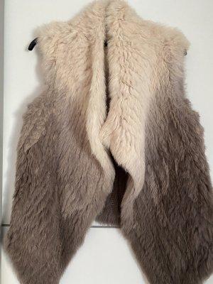 Oakwood Fur vest rose-gold-coloured-light brown