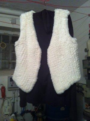 Rino & Pelle Fur vest white pelt