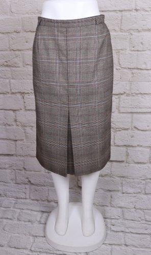 Pencil Skirt Midi Rock Clarina Größe L 42 Glencheck Muster Karo Kariert Business Büro Midirock Sekretärin Falten
