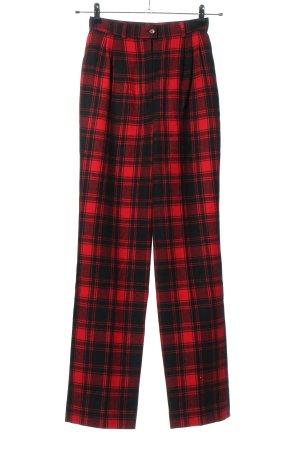 Pendleton Pantalón de lana rojo-negro estampado a cuadros look casual
