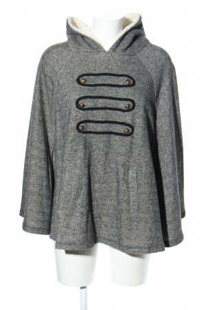 Poncho meliert Casual-Look