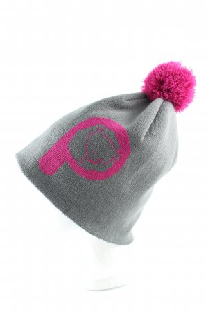 Penfield Gorro con borla gris claro-rosa estampado temático look casual