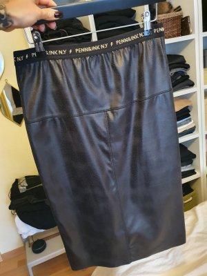 Penn&Ink N.Y. Skórzana spódnica czarny-złoto