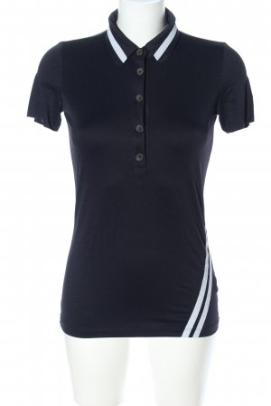 Penn & Ink Polo Shirt black-gold-colored themed print casual look