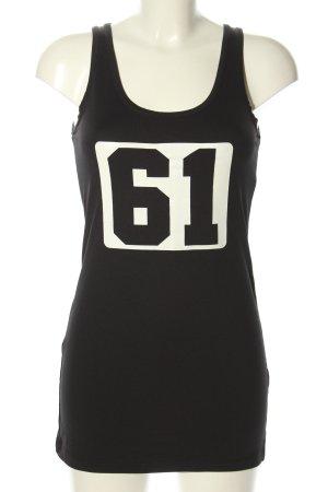 Penn & Ink Tanktop schwarz-weiß Motivdruck Casual-Look