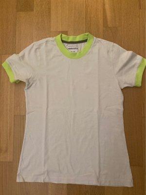 Woolrich T-shirt wolwit-neon groen