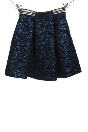 Pennyblack Glockenrock blau-schwarz Allover-Druck Casual-Look