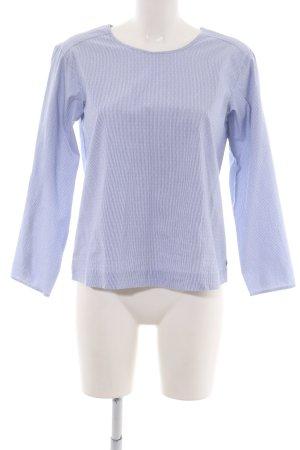 Pennyblack Langarm-Bluse blau-weiß Punktemuster Elegant