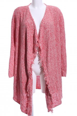 Pennyblack Strick Cardigan rot-weiß Allover-Druck Casual-Look