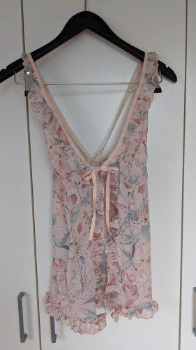 Hunkemöller Camicia da notte rosa pallido-celeste