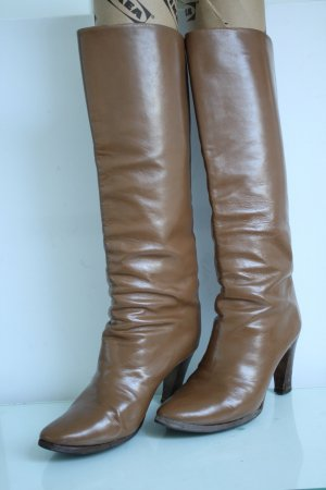 Fernando Pensato Slouch Boots sand brown-brown leather