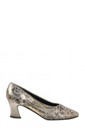 Pensato Loafers gold-colored-silver-colored animal pattern elegant