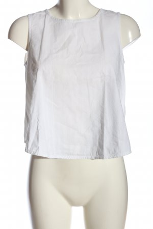 People tree Camisa recortada blanco look casual