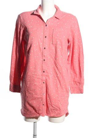 People tree Robe chemise rose-blanc imprimé allover style décontracté