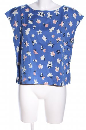 People tree Kurzarm-Bluse Allover-Druck Casual-Look