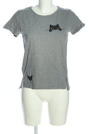 People tree T-shirt gris clair imprimé avec thème style décontracté