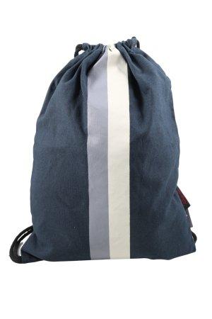 People wear organic Sac de sport bleu-blanc cassé motif rayé