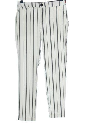 PEP pantalón de cintura baja blanco-negro estampado a rayas elegante