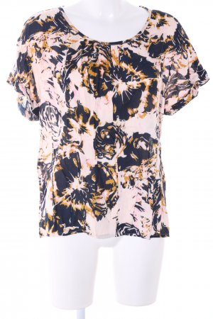 PEP Kurzarm-Bluse abstraktes Muster Business-Look