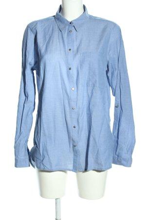PEP Langarmhemd blau Webmuster Casual-Look