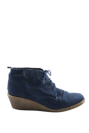 Pep Step Sznurowane botki niebieski W stylu casual