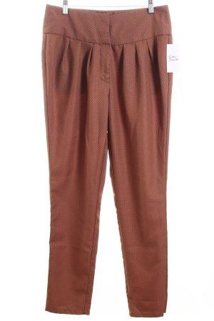 Pepaloves High-Waist Hose braun-dunkelrot Punktemuster Street-Fashion-Look