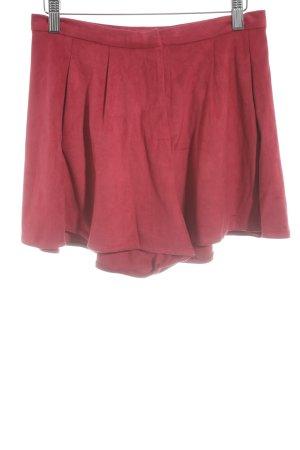 Pepaloves High-Waist-Shorts ziegelrot Elegant