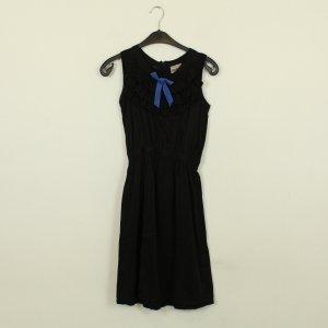Pepaloves Mini vestido negro-azul acero