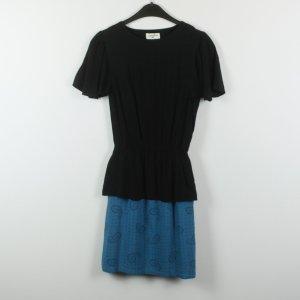Pepaloves Vestido Hippie negro-azul neón Viscosa